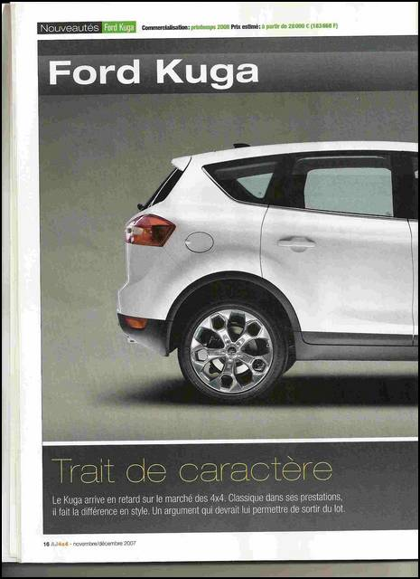 forum ford kuga afficher le sujet auto journal 4x4 ford kuga. Black Bedroom Furniture Sets. Home Design Ideas