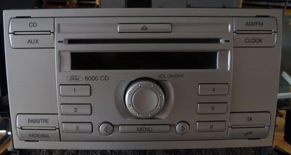 autoradio ford 6000 cd notice. Black Bedroom Furniture Sets. Home Design Ideas